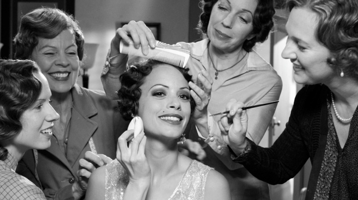 Because she's worth it. Berenice Bejo is made-up in The Artist (2011).