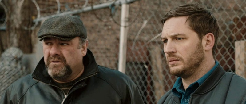 The Drop film still Gandolfini Tom Hardy