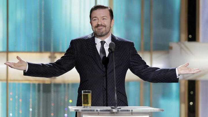 Smugness reaps its own awards - Ricky Gervais in action at the 2011 Golden Globes