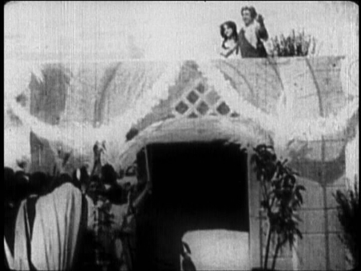 All the world's a stage. Ben Hur (1907) before the tile drops.