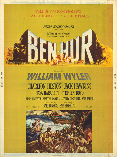 benhur 1959 i gave this 55 so read my review for why