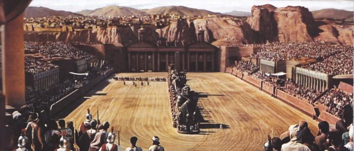 Ben Hur chariot race set