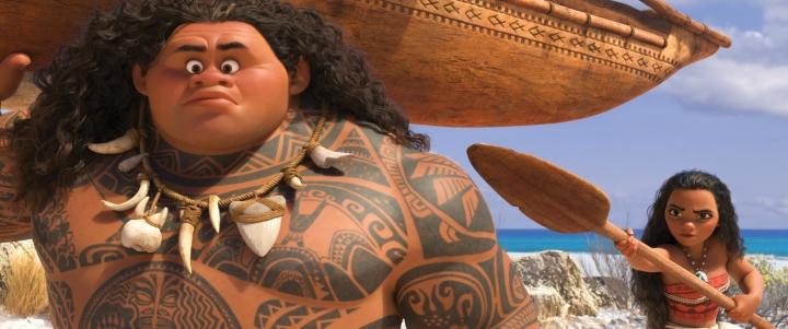 Setting sail: Maui and Moana.