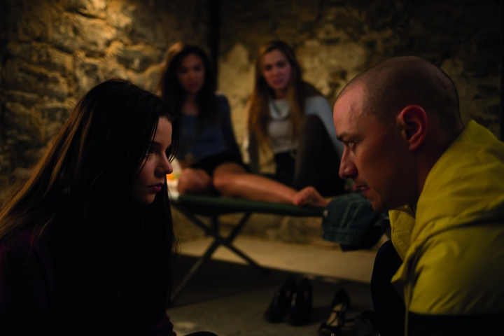 Still of the film Split with James MAcAvoy