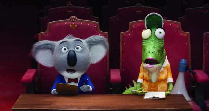 Buster Moon and Mrs Crawly in the film Sing