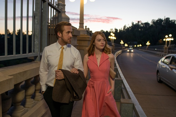 Ryan Gosling and Emma Stone strut their stuff in La La Land (2016). Image courtesy of Lionsgate.