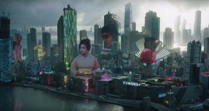 image ghost in the shell cityscape