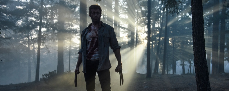 image of hugh jackman as logan in the film logan