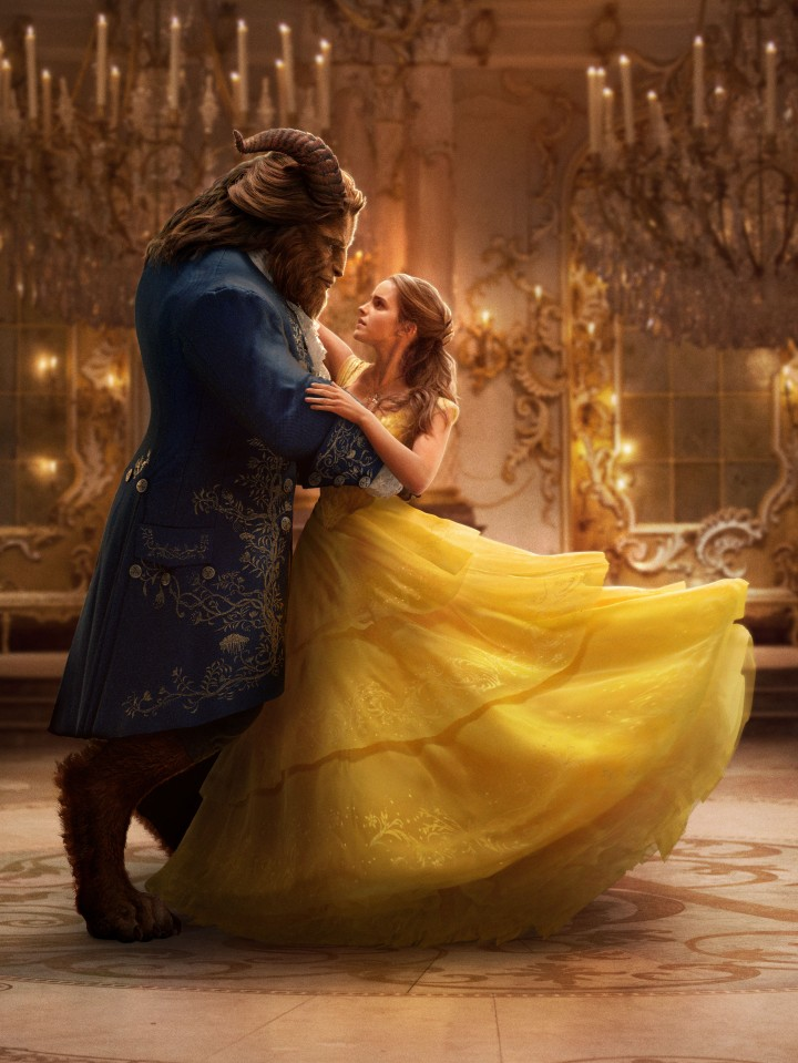 image of beast and belle dancing in beauty and the beast