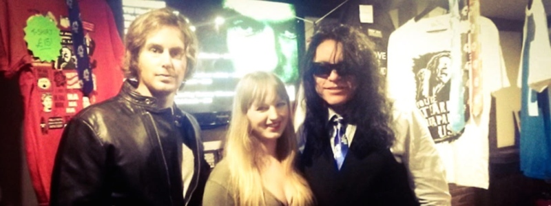 photo greg sestero, claire durrant and tommy wiseau