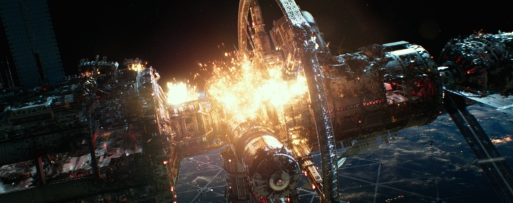 image still geostorm space station explosion