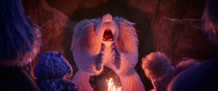 image film smallfoot yeti camp fire