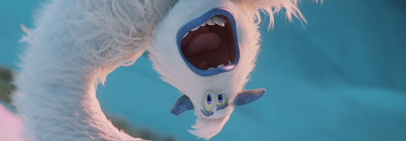 image film small foot yeti upside down
