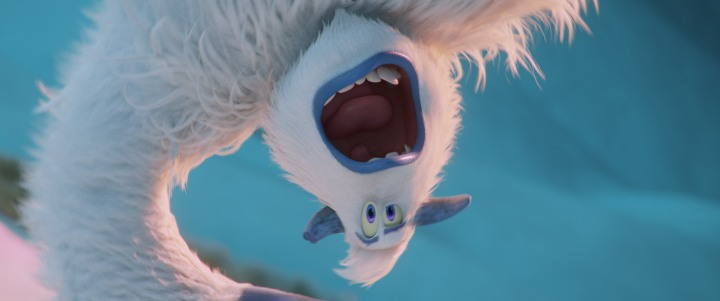 image film smallfoot yeti upside down