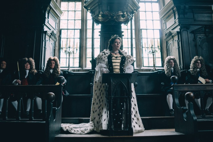 image film the favourite olivia colman parliament