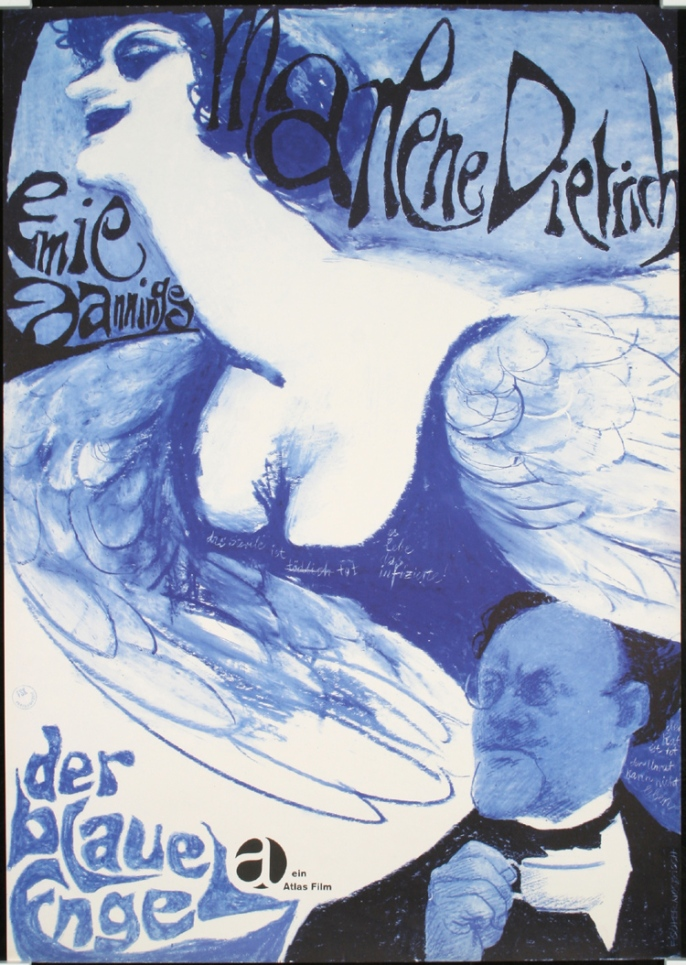 image poster blue angel dietrich jannings 1961