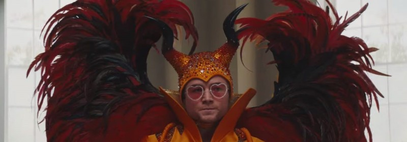Rocketman (2019) starring Taron Egerton as Elton John.