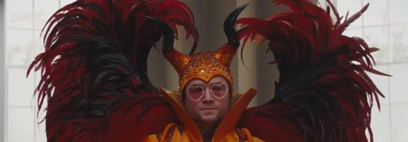 Rocketman (2019) starring Taron Egerton as Elton John.