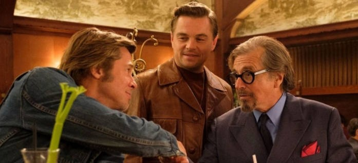 Brad Pitt Leonardo DiCaprio Al Pacino in Once Upon a Time in Hollywood