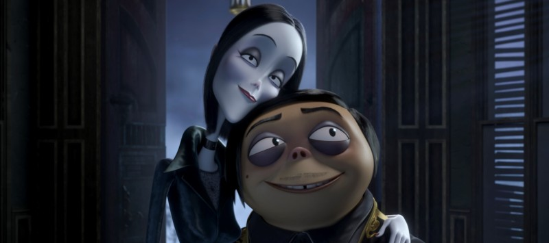 Image of Morticia and Gomez Addams in The Addams Family (2019)
