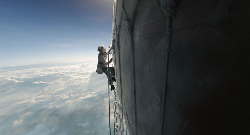 film still felicity jones aeronauts balloon climb