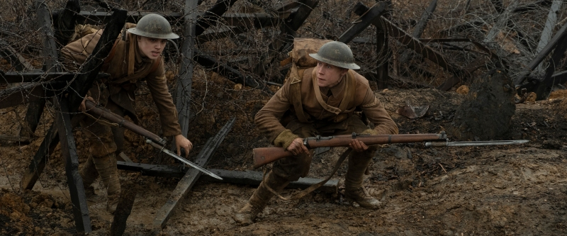 Film still 1917 starring Dean-Charles Chapman and George MacKay