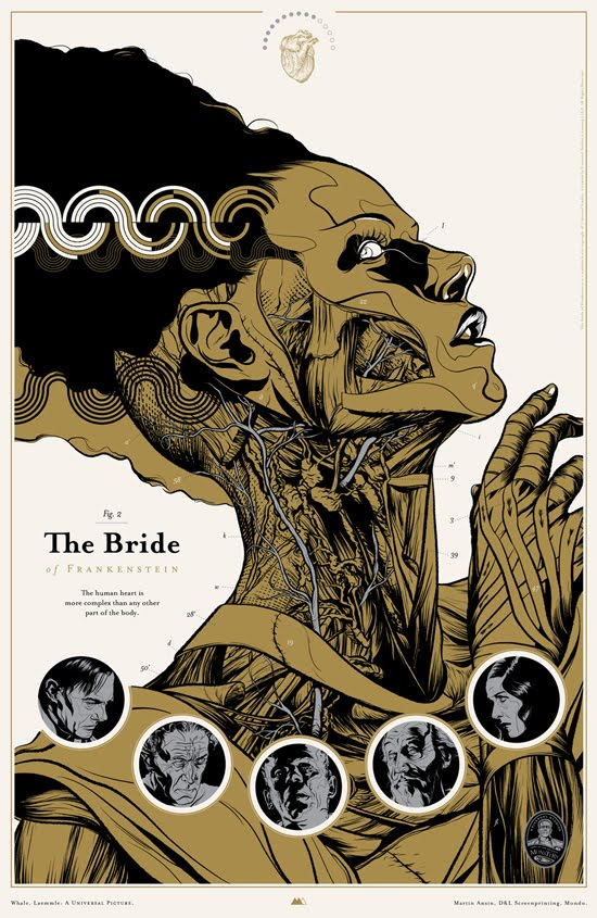 Film poster for Bride of Frankenstein by Martin Ansin