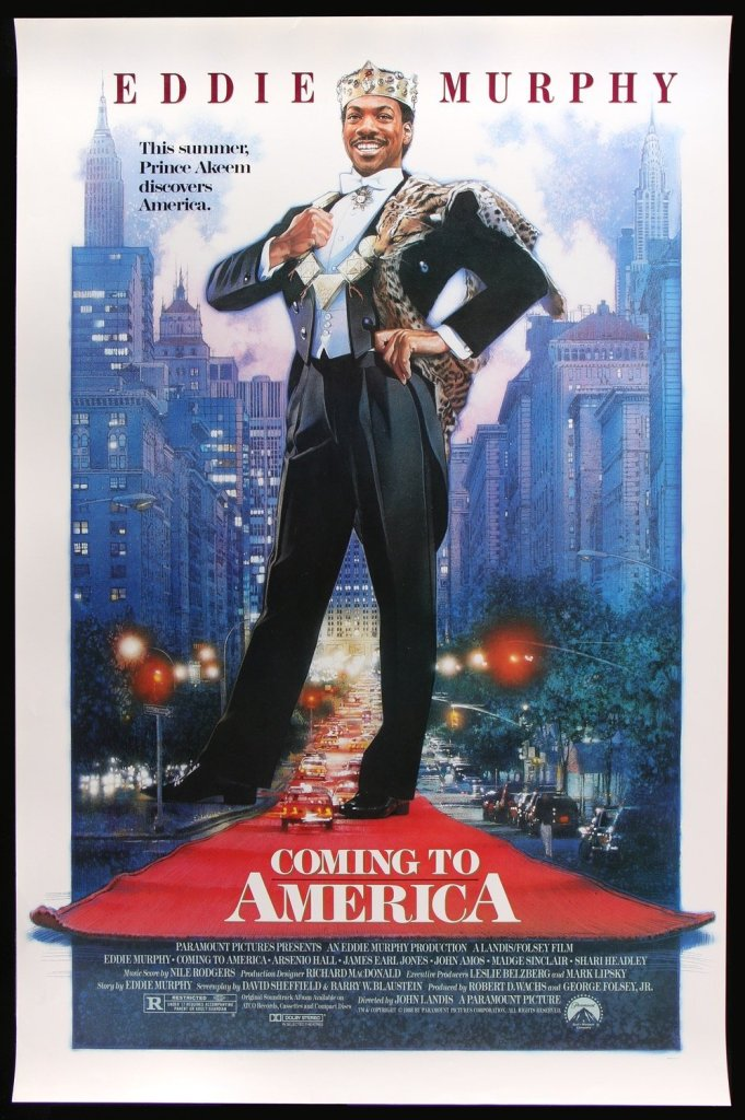 Film poster for Coming to America (1988)
