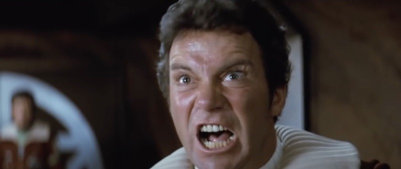 Star Trek II William Shatner scream
