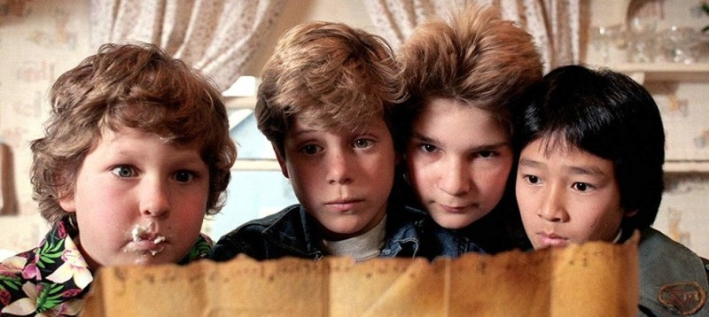 The Goonies kids and pirate map